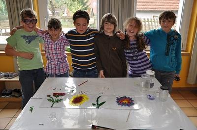 Fusing Glas fused glass in garden / Fusing Glas Objekte aus der